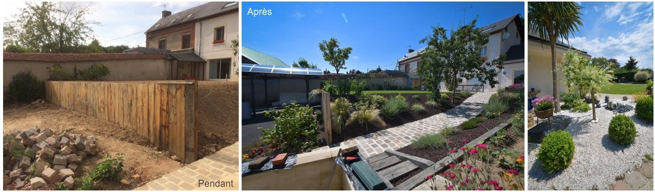 aménagement paysager, eure, jardin